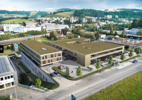 Modern office and commercial space in the east of St.Gallen